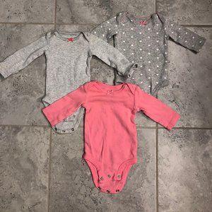 Carters Child of Mine 3 pc onesie bundle